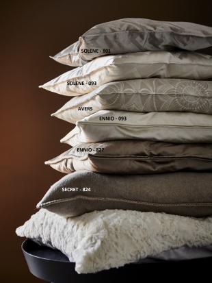 ENNIO - povlak na polštářek lanýžový