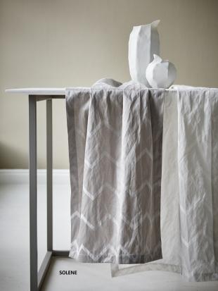 SOLENE - běhoun,povlak na polštářek stříbrný