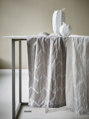 SOLENE - běhoun,povlak na polštářek bílý