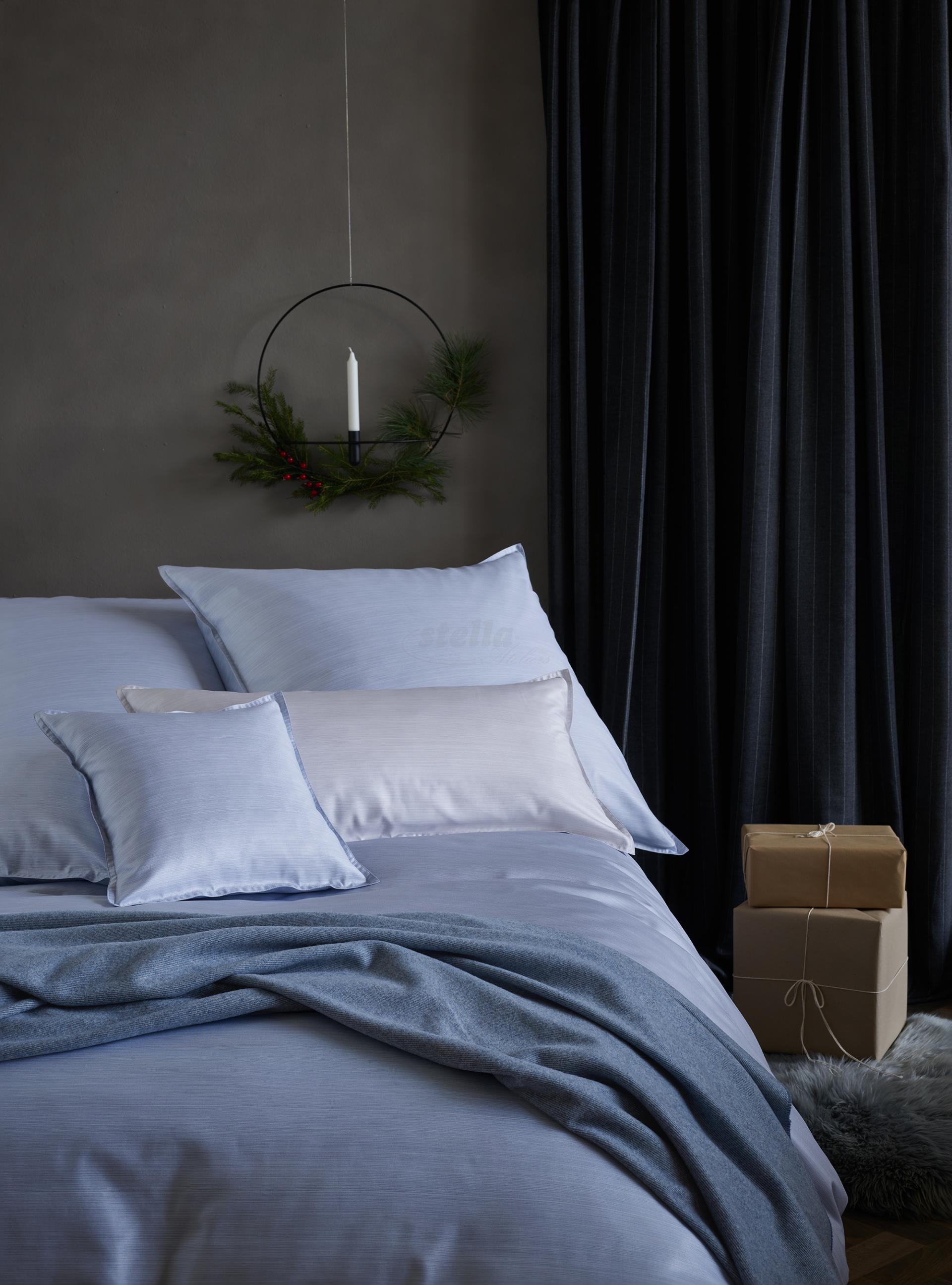 Luxusní ložní povlečení BENTE - blankytně modrá